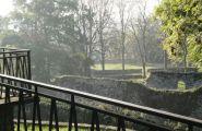 Vue sur les ruine du château du poète Joachim du Bellay